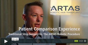 video snapshot  of patient's comparison experience